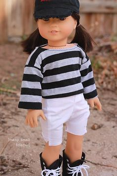 Kimono T-shirt pattern - Free Sewing Pattern from Many Small Friends for 18 inch dolls