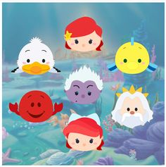 http://kraftynook.blogspot.com/2016/02/tsum-tsum-little-mermaid-fan-art.html