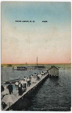 Nags Head, N.C. Pier :: North Carolina Postcards
