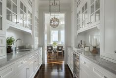 Butlers Pantry with beautiful grey countertopsNature and Glamour Merge in Marin | Rue