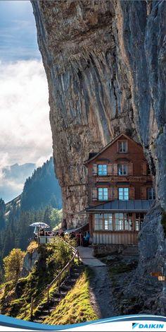 Berggasthaus Aescher-Wildkirchlil (restaurant inn), Appenzellerland, Switzerland  #DaikinValoriza #DaikinQualifica