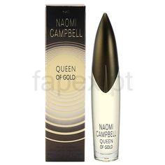 Naomi Campbell Queen of Gold Eau de Parfum para mulheres Naomi Campbell Parfum, Black Currants, Perfume, Queen, Black Models, Sensual, Lipstick, Cosmetics, Bottle