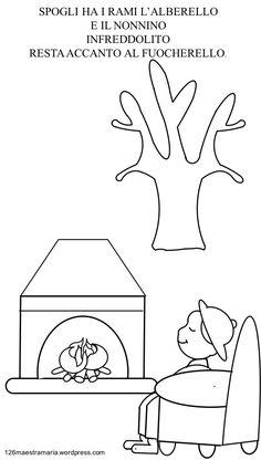 Libretto con poesia da colorare per la stagione invernale Booklet with coloring poetry for the winter season - Maestramaria per bambini