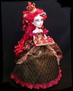 """272 Likes, 15 Comments - Rachel McCarthy (@goodgirl_arcee) on Instagram: """"'The Queen of Hearts' Ooak custom doll - Doll number 8 in the 'Tragic Fairytales' series  Her full…"""""""