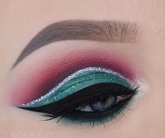 Christmas eyeshadow look