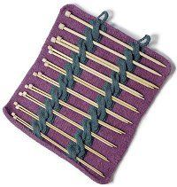 Kable Felted Needle Case- Free and easy, this knitting needle case is perfectly organized and  portable, so anyone can bring their knitting anywhere.