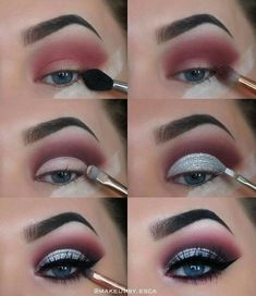 makeup tutorial 40 Winter Eye Makeup Ideas Schöne 40 Winter Eye Make-up-Ideen Makeup Goals, Makeup Inspo, Makeup Art, Makeup Inspiration, Hair Makeup, Makeup Ideas, Makeup Hacks, Makeup Meme, Eye Makeup Tutorials