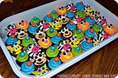 jungle animal mini cupcakes