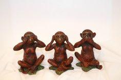 See No Hear No Speak No Evil Monkey Figures   eBay