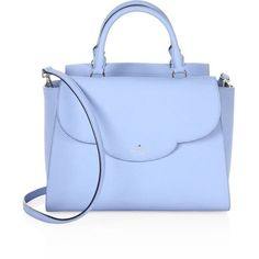 Kate Spade New York Makayla Scalloped Leather Satchel ( 398) ❤ liked on Polyvore  featuring 47dc80807782d
