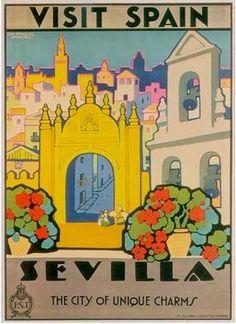 Sevilla, Spain _________________________ #Vintage #Travel #Poster