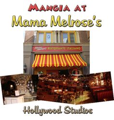 This romantic Italian restaurant is located off the beaten path in Hollywood Studios