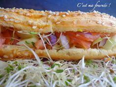 C'est ma fournée ! : L'éclair tartare de saumon et pomme verte de Christophe Adam