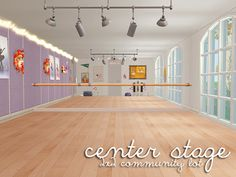 interior 1 - interior 2 - exterior As requested, here is the Center Stage Dance Studio up for download! It's a 2x2 community lot. Master files for windows and doors are included, but as always, if...