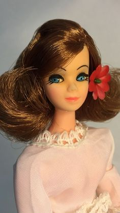 Vintage Topper Dawn Doll Majorette Connie In Triki Miki Dress / NOB Body & Head