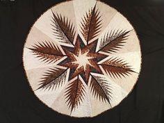 Prickly Pinecones Tree Skirt ~Quiltworx.com, made by CI Eileen Urbanek Quilt Festival, Art Festival, Blanket Patterns, Quilt Patterns, Summer Quilts, Man Quilt, Foundation Paper Piecing, Fiber Art, Colorado