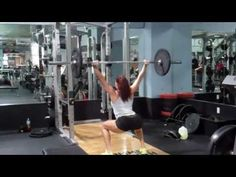 Erin Stern demonstrates a barbell complex - Cardio alternative.any weight is acceptable esp for beginner at this Butt Workout, Gym Workouts, At Home Workouts, Bodybuilding Nutrition, Women's Bodybuilding, Erin Stern, Muscle Girls, Gym Humor, Barbell