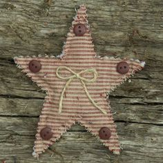 Primitive Homespun Quilted Christmas Ornaments - set of 6   $9.99