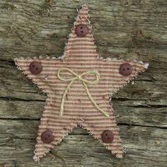 Primitive Christmas Decorations   Primitive Homespun Quilted Christmas Ornaments