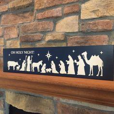 Nativity Sign  Christmas Decor  Nativity sign  Christmas
