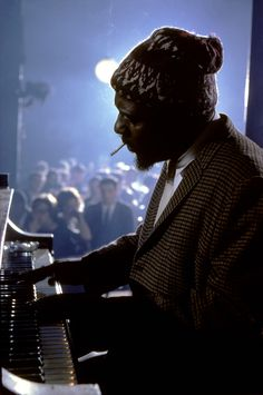 """mrmontag: """" Thelonius Monk playing at the Newport Jazz Festival, New York, USA, Photo.: Burt Glinn """" I learned today that beginning in 1972 the Newport Jazz Festival began to operate in other locations that ultimately included NYC, Yankee. Jazz Artists, Jazz Musicians, Music Artists, Blues Artists, Newport Jazz Festival, Photo Star, Thelonious Monk, Photo Vintage, Pop Rock"""