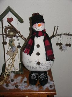 Freezing My Bells Off - Primitive Snowman $8.50