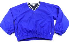 Vintage Nike Windbreaker Pullover V-Neck Womens Medium M 8 - 10 Purple  #Nike #Windbreaker