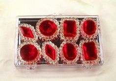 Ruby Red Edible Jewels for Cake