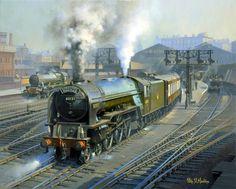 Fine Art Prints of Railway Scenes & Train Portraits - The Yorkshire Pullman by Philip D Hawkins