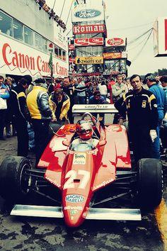 Gilles Villeneuve, Ferrari, Spa-Francorchamps, Belgian Grand Prix 1982.