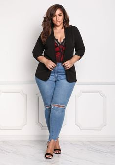 Plus Size Outfit Ideas Gallery awesome edgy plus size fashion edgyplussizefashion plus Plus Size Outfit Ideas. Here is Plus Size Outfit Ideas Gallery for you. Plus Size Outfit Ideas 9 most stylish plus size outfit ideas for spring 2019 t. Curvy Outfits, Mode Outfits, Sexy Outfits, Fashion Outfits, Fashion Wear, Fashion Tips, Plus Size Fashion For Women, Plus Size Women, Plus Fashion