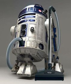 """Save Me Obi-Wan! The Dust Needs To Be Sucked!"" #R2D2 #StarWars"