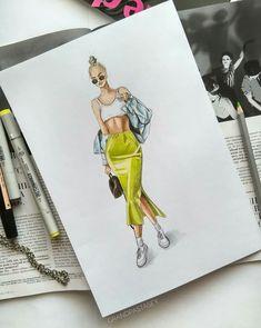 Dress Design Drawing, Dress Design Sketches, Fashion Design Sketchbook, Fashion Design Portfolio, Fashion Design Drawings, Fashion Sketches, Fashion Figure Drawing, Fashion Drawing Dresses, Drawing Fashion