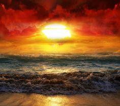 cool Sun Sets Sea Androidスマホ壁紙