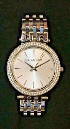 Michael Kors Darci Silver Stainless Steel MK3190 Women Glitz Bezel Watch