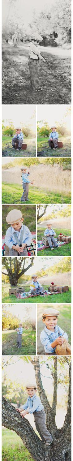 Wendy VonSosen  vintage boy photo shoot