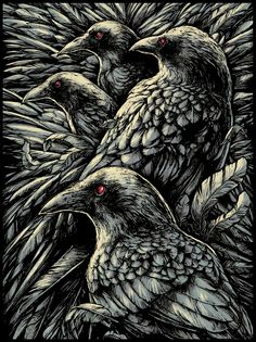 A platform for Contemporary Artists, Urban Artists, Illustrators and Sculptors who create custom and designer toys, limited edition art prints and original artwork across a variety of mediums. Crow Art, Raven Art, Bird Art, The Crow, Rabe Tattoo, Dark Romance, Quoth The Raven, Jackdaw, Crows Ravens