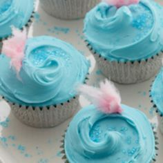Delicious Cotton Candy Cupcakes