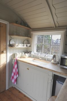 Our Huts | Roundhill Shepherd Huts- love the soft edges More