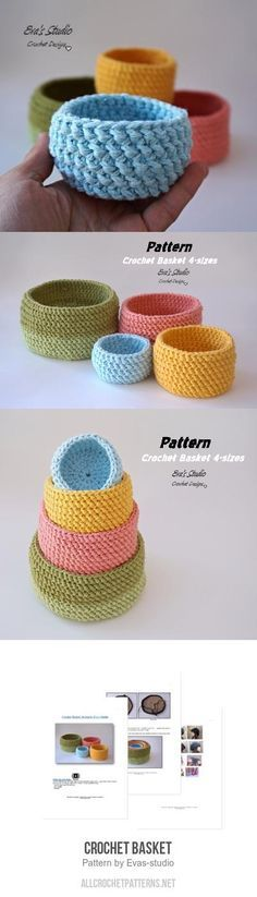 Basket crochet pattern