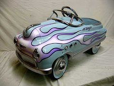 flamed Buick pedal car                                                                                                                                                      More
