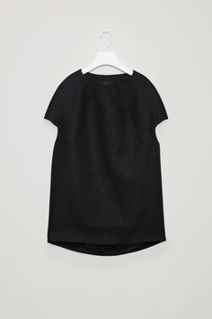 COS | Structured glitter top with pleats