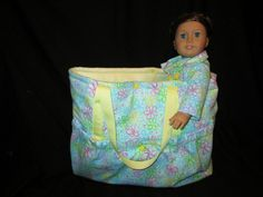 """Tote Bag for 18"""" Doll"""