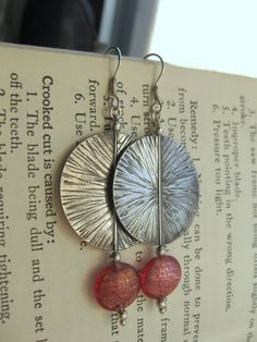Sterling Silver sundisk textured earrings with by calamityduane, $65.00