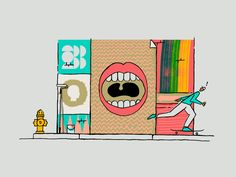 You've got a big mouth! by Mike Smith #Design Popular #Dribbble #shots