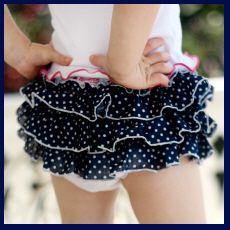 Christian Clothing   Faith Baby   Navy Dots Ruffled Heavenly Baby Bloomer    www.FaithBaby.com