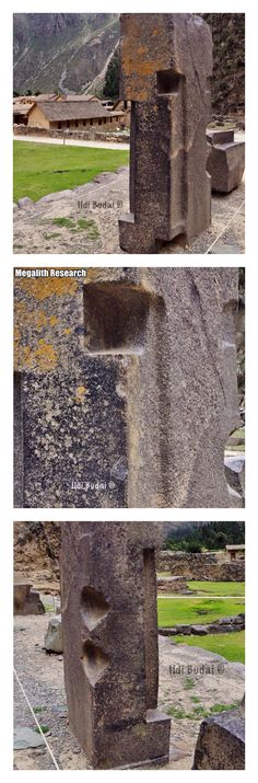 """Amazing ancient """"moulded stone"""" granite from Ollantaytambo, Peru. From Megalith Research."""