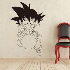 Japanese anime Dragon Ball Monkey Cartoon Wall Stickers home decoration Boys Bedroom Decor Vinyl Removable Wall Decals # T210