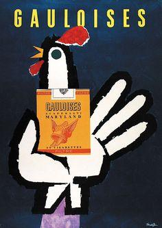 cigarettes Gauloises - 1960 - (Donald Brun) -