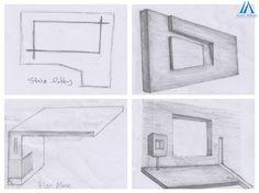 Interior Sketch, Best Interior Design, Wood Tile Texture, Tv Wall Cabinets, Interior Design And Construction, Sketch Design, Architecture Design, Sketches, Design Ideas